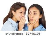 Young Business Women Gossiping.