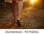 Young Female Legs Walking...