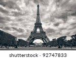 Eiffel Tower With Dramatic Sky...