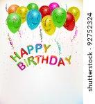 birthday card background ... | Shutterstock .eps vector #92752324