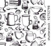 tea time pattern | Shutterstock .eps vector #92752798