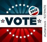 patriotic voting poster | Shutterstock .eps vector #92759470