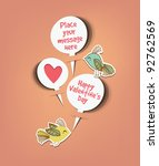 retro speech bubbles with sweet ... | Shutterstock .eps vector #92762569
