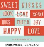 love letterpress card | Shutterstock .eps vector #92762572