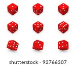 red dice from different... | Shutterstock . vector #92766307