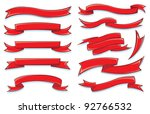 banners and ribbons | Shutterstock .eps vector #92766532