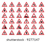 vector road sign icons | Shutterstock .eps vector #9277147