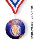 e commerce world metal award. | Shutterstock . vector #92774785