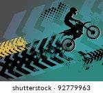 motocross background  vector... | Shutterstock .eps vector #92779963