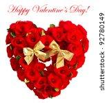 happy valentine's day  card... | Shutterstock . vector #92780149
