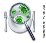 contaminated food poisoning... | Shutterstock . vector #92781700
