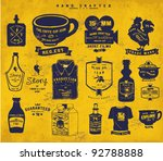 Stock vector vintage icon label collection set 92788888