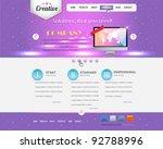 website design vector elements   Shutterstock .eps vector #92788996