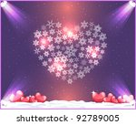 valentine day background vector | Shutterstock .eps vector #92789005