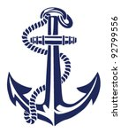 anchor stencil vector | Shutterstock .eps vector #92799556