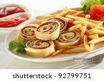 spiral sandwich appetizers with ... | Shutterstock . vector #92799751