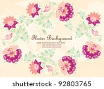 vector flower background | Shutterstock .eps vector #92803765