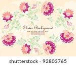 vector flower background | Shutterstock .eps vector #92803765