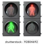 Set Of Pedestrian Light Lights...