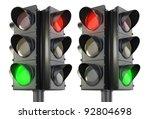 four sided traffic light red... | Shutterstock . vector #92804698
