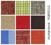 Set Of Different Fabric Textur...