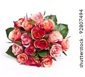 Stock photo bunch of roses isolated on white 92807494