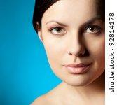 woman closeup beauty face over... | Shutterstock . vector #92814178