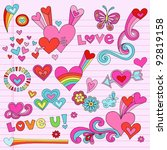 valentine's day love and hearts ... | Shutterstock .eps vector #92819158