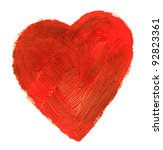 The heart. This drawing painted of an oil paint. - stock photo
