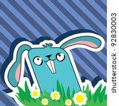 vector easter rabbit | Shutterstock .eps vector #92830003