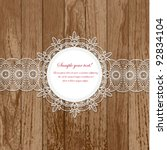 lace frames | Shutterstock .eps vector #92834104