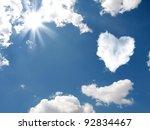 Cloud Shaped Heart On A Sky. ...
