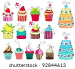 set of hand drawn style... | Shutterstock . vector #92844613