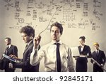 group of business people at work | Shutterstock . vector #92845171