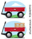 toy wagon | Shutterstock .eps vector #92848993