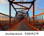 steel bridge for people | Shutterstock . vector #92849179