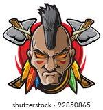 indian warrior | Shutterstock .eps vector #92850865