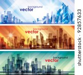 city skylines   Shutterstock .eps vector #92857633