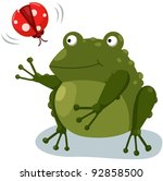 illustration of isolated frog... | Shutterstock .eps vector #92858500