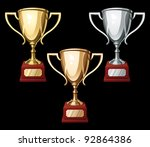 set of gold  silver and bronze...   Shutterstock .eps vector #92864386