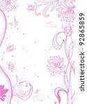floral pink tender background... | Shutterstock .eps vector #92865859