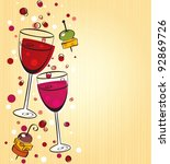 wine background | Shutterstock .eps vector #92869726