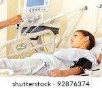 Sick Patient On Gurney In...