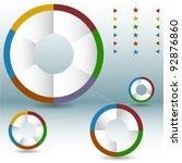 An image of a process wheel pie chart set.
