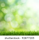 natural green background with... | Shutterstock . vector #92877205