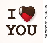 i love you  written with... | Shutterstock .eps vector #92882845