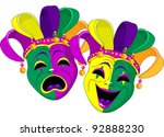 mardi gras comedy and  tragedy... | Shutterstock .eps vector #92888230