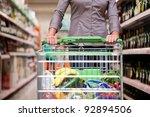 female customer shopping at... | Shutterstock . vector #92894506
