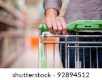 closeup of female shopper with... | Shutterstock . vector #92894512
