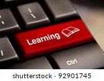 computer keyboard e learning... | Shutterstock . vector #92901745